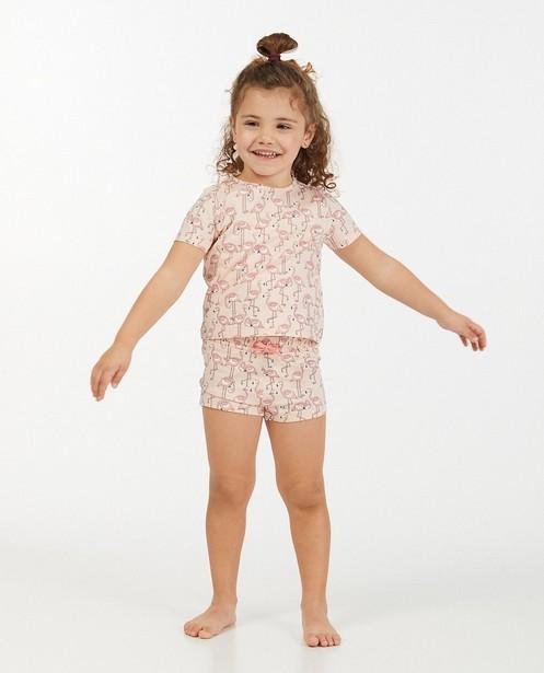 Pyjama rose 2 pièces à imprimé - à flamants roses - Milla Star