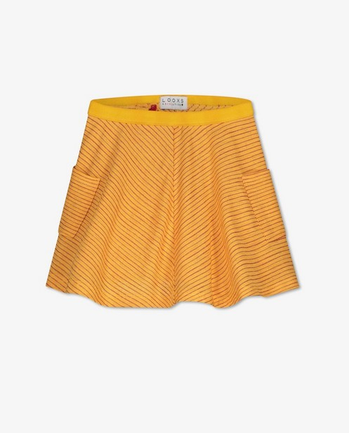 Jupe jaune à rayures Looxs - imprimé intégral - Looxs