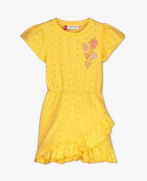 Gele jurk met borduursel Looxs - en broderie anglaise - Looxs