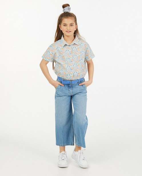 Jupe-culotte bleue en jeans Peppa avec ceinture - taille réglable - Fish & Chips