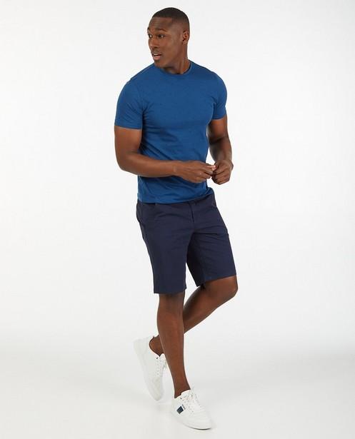 Bermuda bleu en coton - stretch - Quarterback