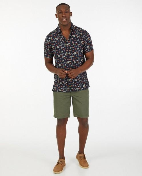 Bermuda vert en coton - stretch - Quarterback