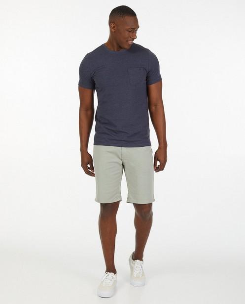 Bermuda gris clair en coton - stretch - Quarterback