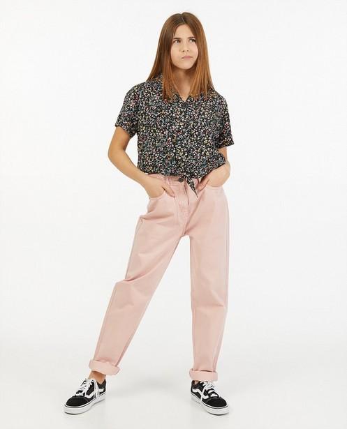 Roze mom jeans - met elastiek - Groggy