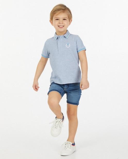 Sweat denim bermuda Simon, 2-7 jaar - met slim fit - JBC