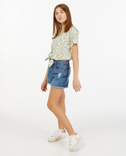Short en jeans bleu - destroyed - Groggy