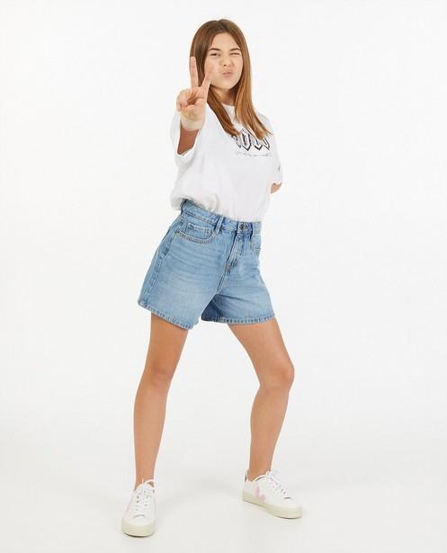 Short en jeans bleu clair - destroyed - Groggy