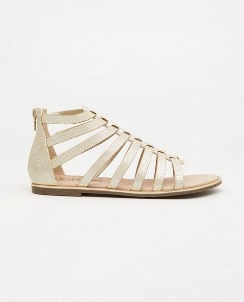 Beige sandalen, maat 33-38 - met reliëfpatroon - Sprox