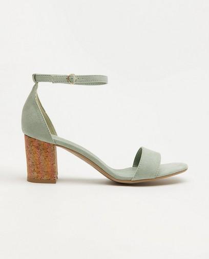 Mintgroene sandalen met hak