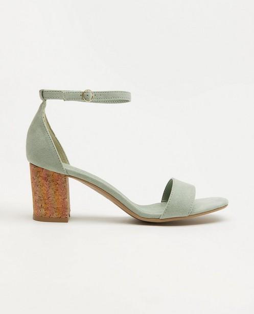 Sandales vert menthe avec un talon - liège - Sprox