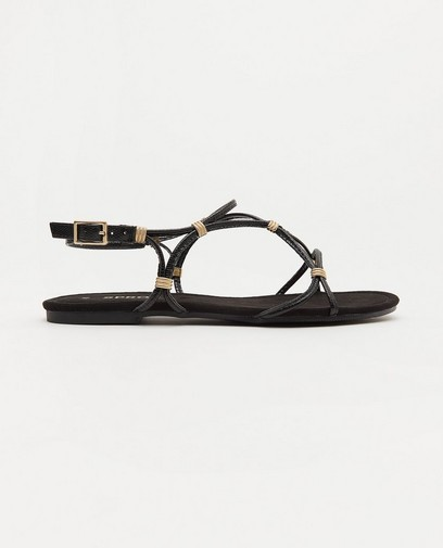 Sandales noires plates Sprox