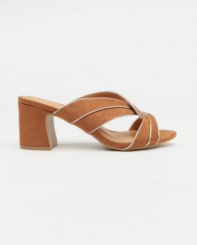 Bruine slippers met hak Sprox