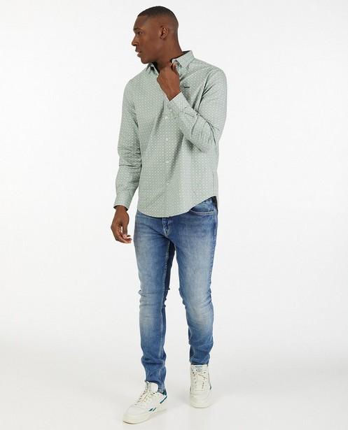 Blauwe tapered fit jeans Luke - stretch - Quarterback