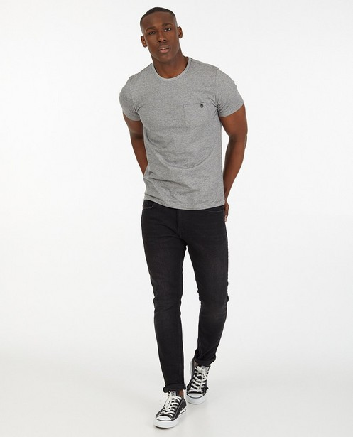 Jeans tapered fit noir Luke - stretch - Quarterback