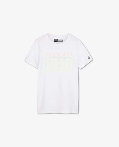Wit T-shirt met fluo opschrift Raizzed - stretch - Raizzed