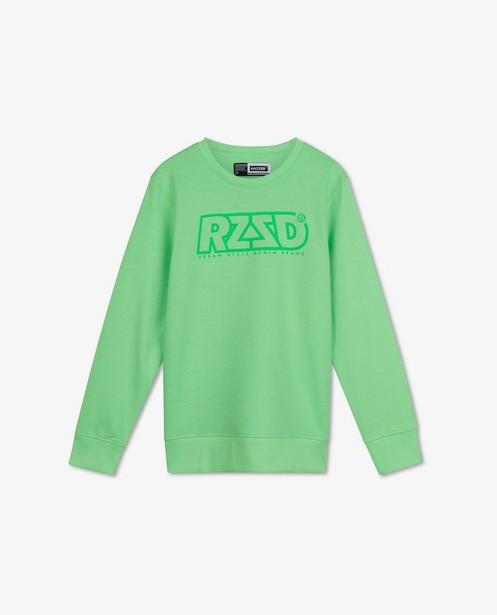 Fluo sweater met print Raizzed - rubberprint - Raizzed