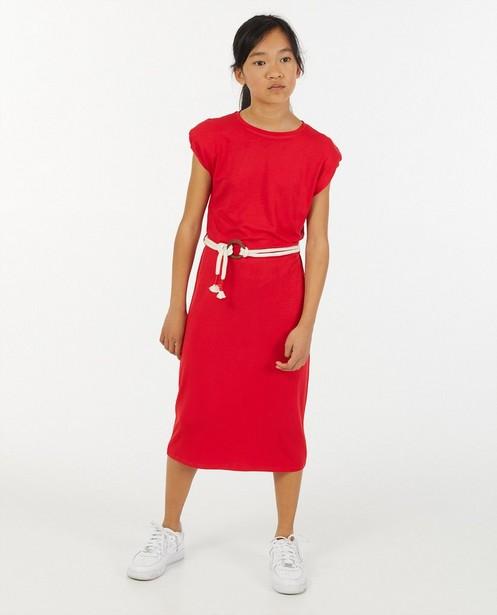 Robe rouge à ceinture BESTies - avec des épaulettes - Besties