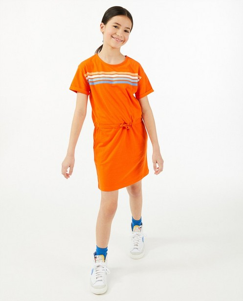 Robe orange, rayures BESTies - avec des poches - Besties