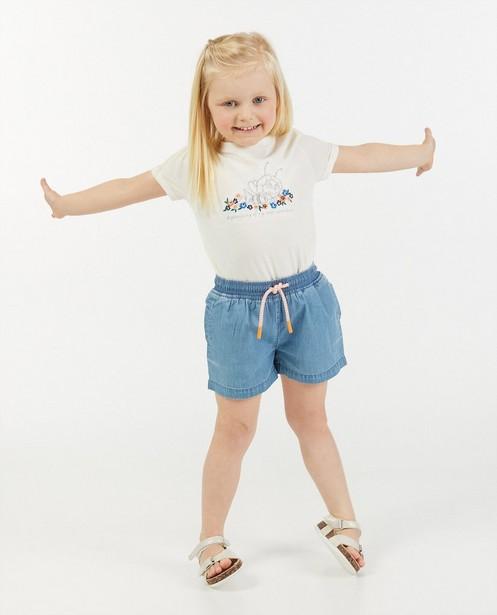 Wit T-shirt met print Maya - van biokatoen - Maya