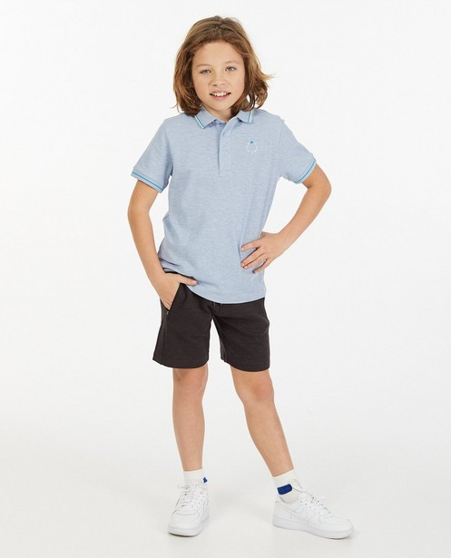 Polo en coton bio avec logo, 7-14 ans - à imprimé - Fish & Chips