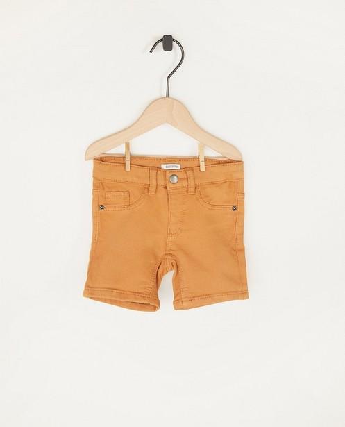 Short brun en sweat denim - en coton bio - Cuddles and Smiles