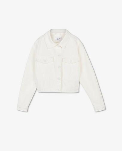 Witte jeansjas van twill Youh!