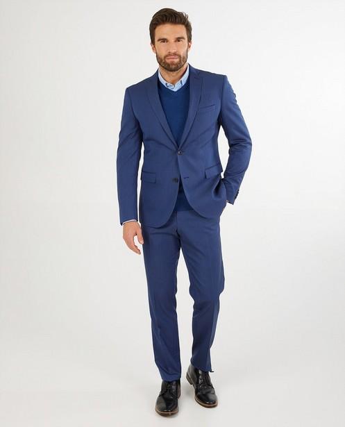 Blauwe kostuumbroek s.Oliver - met microprint - S. Oliver
