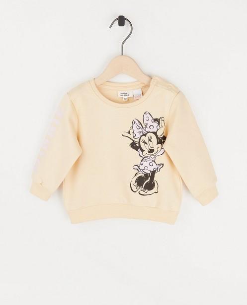 Sweat bébé beige avec Minnie - imprimé - Mickey