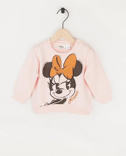 Roze babysweater met Minnie - print - Mickey
