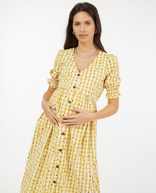 Geruite jurk met print JoliRonde - bloemenprint - Joli Ronde