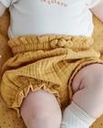 Short jaune en tétra - avec un petit nœud - Newborn
