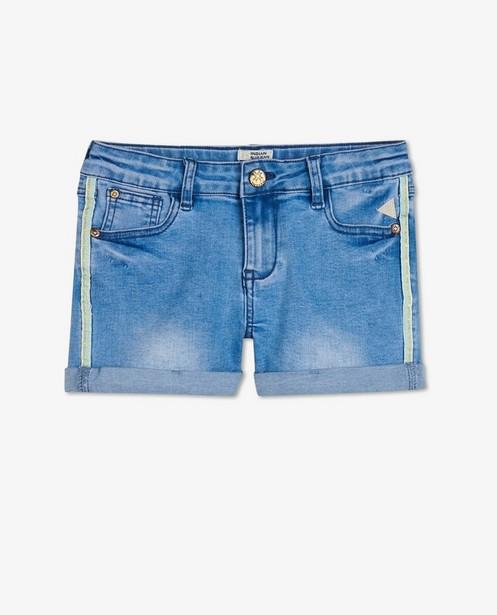 Lichtblauwe short Indian Blue Jeans - met sierbies - Indian Blue