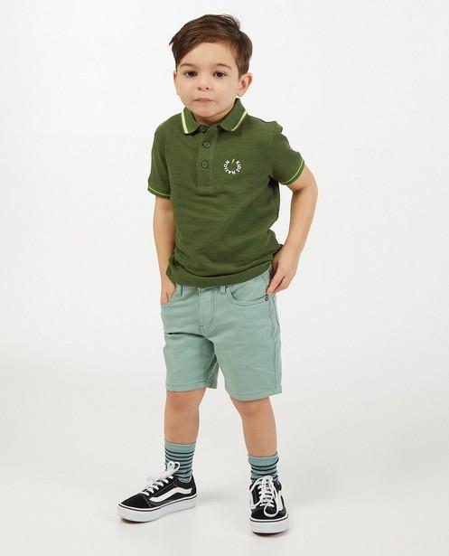 Polo en coton bio avec logo, 2-7 ans - stretch - Fish & Chips