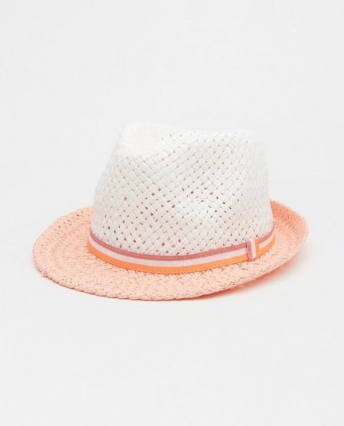 Chapeau blanc et rose avec bandeau - à rayures - JBC