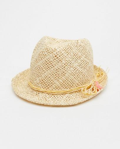 Chapeau beige avec des franges