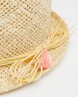 Bonneterie - Chapeau beige avec des franges