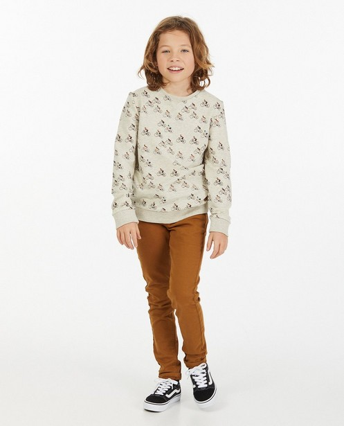 Sweater met print van fietsers - allover - Fish & Chips