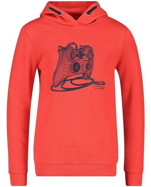 Hoodie rouge à imprimé - et capuchon - Fish & Chips