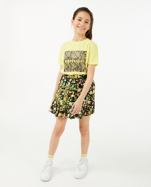T-shirt jaune avec imprimé photo - en coton bio - Milla Star