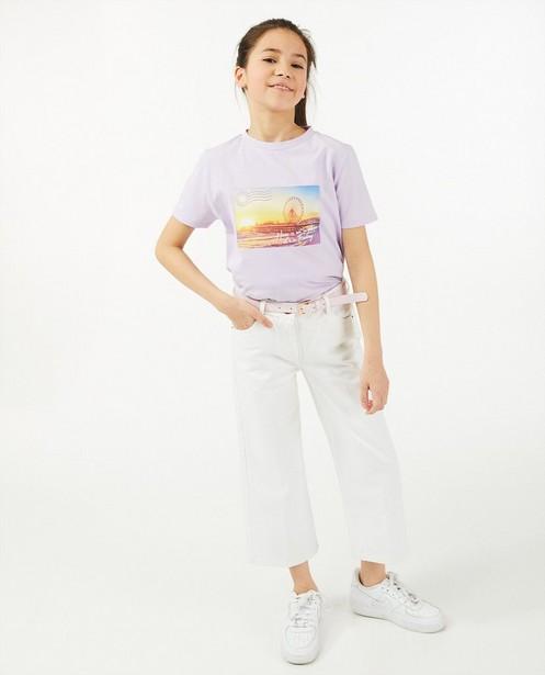 T-shirt lilas avec imprimé photo - en coton bio - Milla Star