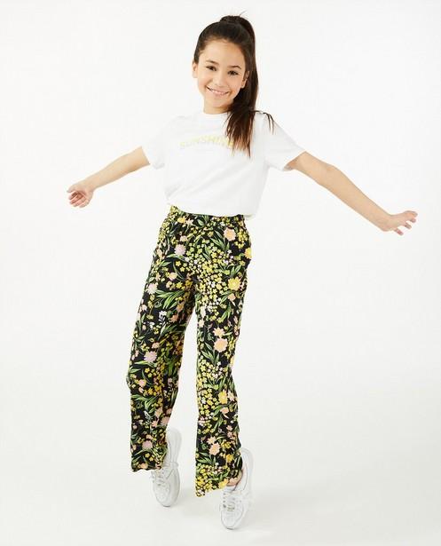 T-shirt en coton bio à inscription - blanc - Milla Star
