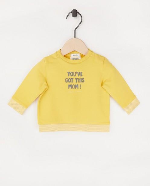 Sweat jaune avec une inscription - en coton bio - Newborn