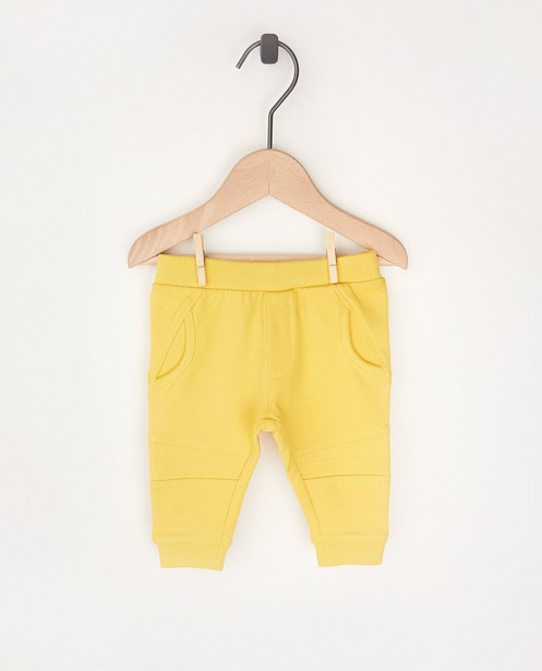 Gele jogger - stretch - Newborn