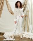Pantalon évasé court blanc Sora - mid rise - Sora