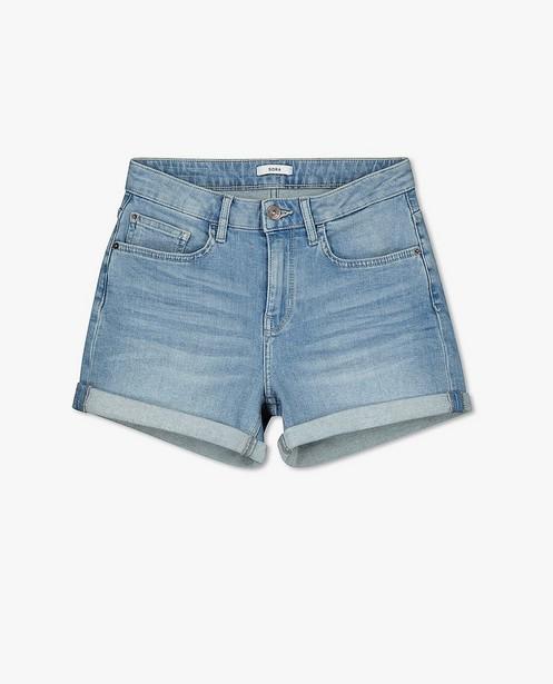 Lichtblauwe jeansshort Sora - met stretch - Sora