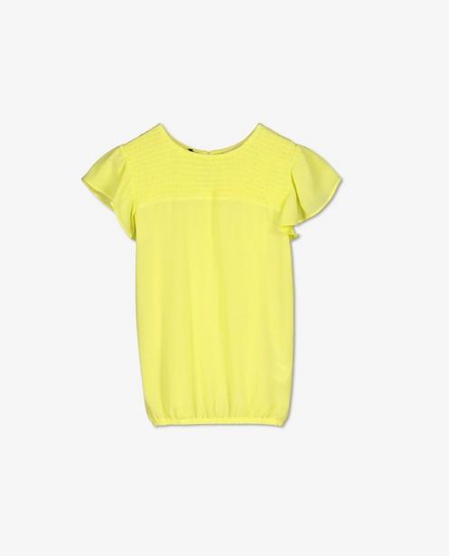 Gele top met kreukeffect Looxs - en smokwerk - Looxs
