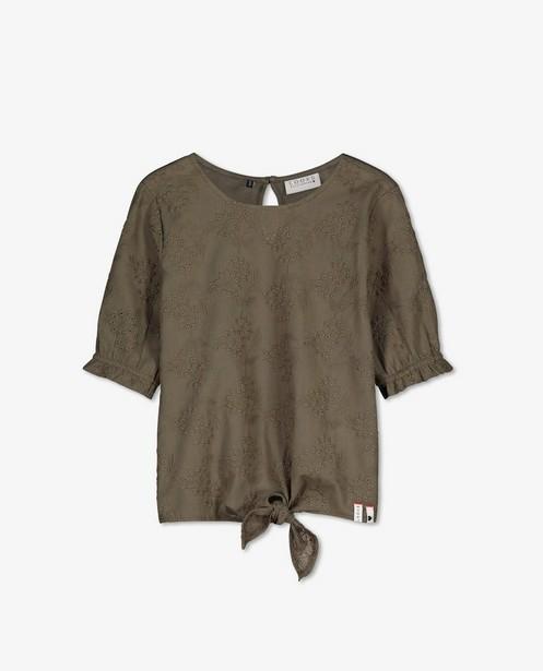 Kakigroen combi-T-shirt Looxs - met borduursel - Looxs