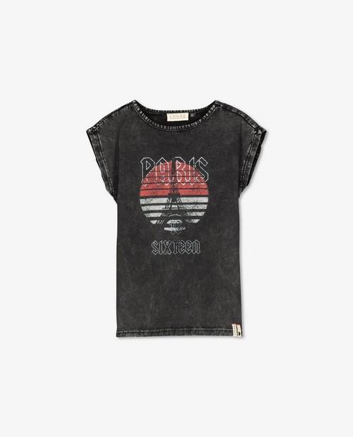 Verwassen zwart T-shirt Looxs - met print - Looxs