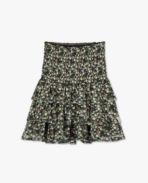 Groene rok met bloemenprint Looxs - allover - Looxs