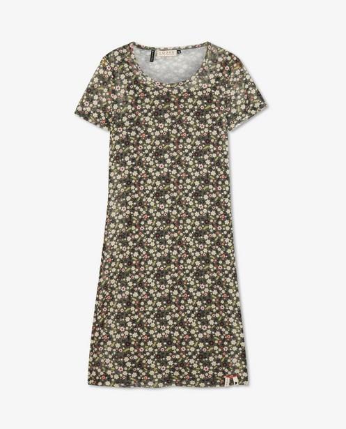 Kakigroene jurk met print Looxs - aansluitende fit - Looxs